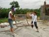 モルタル材料の砂ふるい