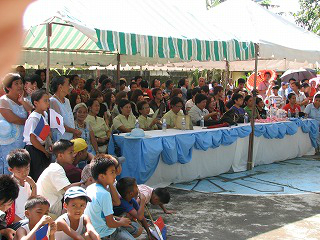 ボランティアの歓迎式